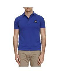 Stone Island | Blue T-shirt Men for Men | Lyst