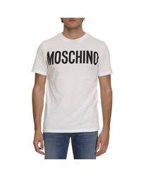 Moschino | White T-shirt Men for Men | Lyst