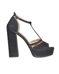 Pinko   Black Heeled Sandals Shoes Women   Lyst