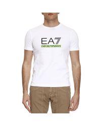 EA7 | White T-shirt Men Ea7 for Men | Lyst