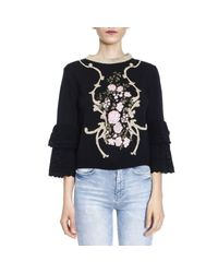 Alberta Ferretti - Black Sweater Women - Lyst