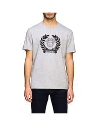 Versace Gray Short-sleeved T-shirt With Jellyfish Head for men