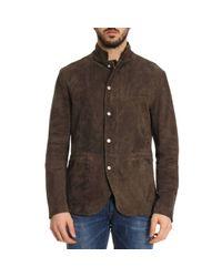 Eleventy Brown Jacket Men for men