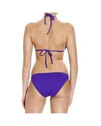 Polo Ralph Lauren | Purple Swimsuit Bikini Triangle Large Pony | Lyst