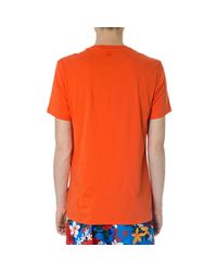AMI Orange T-shirt With Print for men
