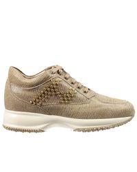 Hogan - Brown Women's Sneakers - Lyst