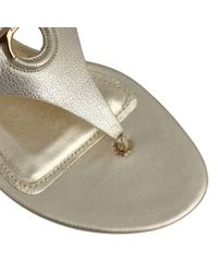 Ferragamo - Metallic Shoes Women - Lyst