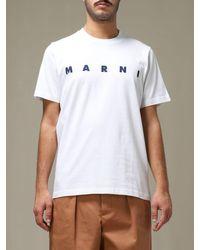 Marni White T-shirt for men