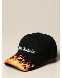 Palm Angels Black Hat for men