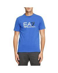 EA7 - Blue T-shirt Men Ea7 for Men - Lyst