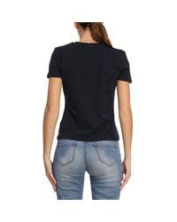 Emporio Armani - Blue T-shirt Women - Lyst