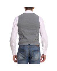 Eleventy Blue Suit Vest Men for men