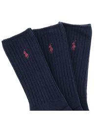 Polo Ralph Lauren Blue Short Socks for men