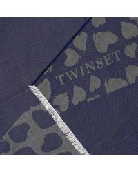 Twin Set - Blue Scarf Women - Lyst