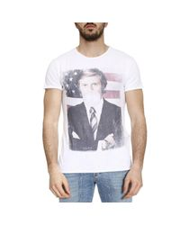 1921 Jeans | White T-shirt Men for Men | Lyst
