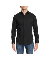 Emporio Armani - Black Shirt Men for Men - Lyst