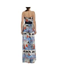 Elisabetta Franchi - Blue Jumpsuits Women - Lyst