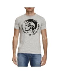 DIESEL - Gray T-shirt Men for Men - Lyst