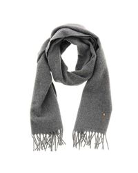 Polo Ralph Lauren Gray Wool Scarf With Logo for men