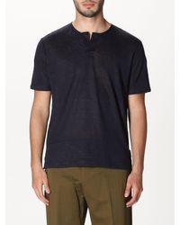 Paolo Pecora Blue T-shirt for men