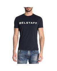 Belstaff Blue Hynton Logo Tee for men