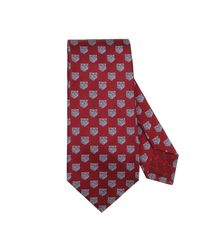 Gucci Red Tie 7 Cm In Pure Silk With Tiger Pattern for men