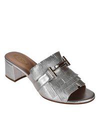 Tod's - Metallic Heeled Sandals Shoes Women - Lyst