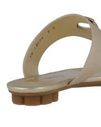 Ferragamo - Metallic Shoes Women - Lyst
