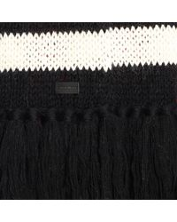 Saint Laurent White Scarf In Striped Wool