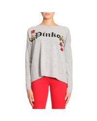 Pinko | Gray Sweater Women | Lyst