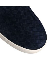 Bottega Veneta Blue Dodger Intrecciato Slip-on Suede Sneakers for men