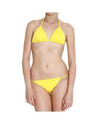 Polo Ralph Lauren | Yellow Women's Swimsuit | Lyst