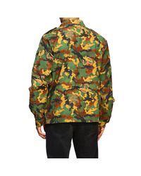 Off-White c/o Virgil Abloh Multicolor Jacket In Camouflage Canvas With Rubber Logo for men