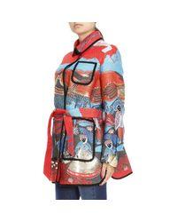 Giorgio Armani - Orange Coat Women - Lyst