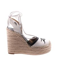 Karl Lagerfeld - White Wedge Shoes Shoes Women - Lyst
