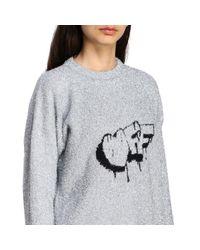 Off-White c/o Virgil Abloh Gray Lurex Knit