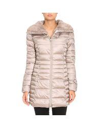 Save The Duck - Gray Jacket Coat Women - Lyst