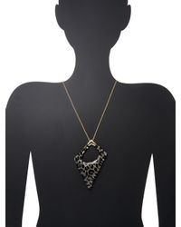 Alexis Bittar - Metallic Lucite Asymmetrical Pendant Necklace - Lyst