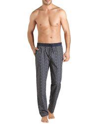 Hanro Blue Aristide Print Long Pants for men