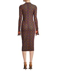 Givenchy Purple Print Bodycon Dress