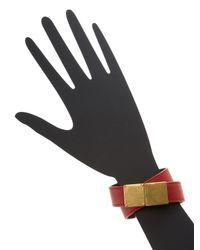 Céline | Red Classic Double Strap Leather Bracelet | Lyst