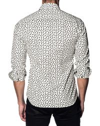 Jared Lang Black Stars Cotton Sportshirt for men