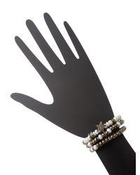 Bavna - Multicolor Pyrite, Silverite, Sapphire & Diamond Bracelets (set Of 3) - Lyst