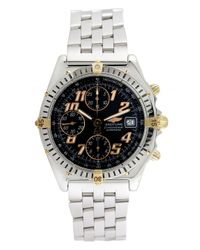 Breitling Metallic Vintage Breitling Chronomat 18k Yellow Gold & Stainless Steel Watch, 39mm for men