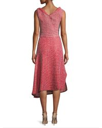 Victoria Beckham Red Wrap Midi Dress
