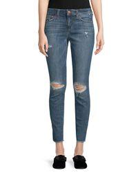 Joe's Blue Icon Frayed-hem Ankle Jeans