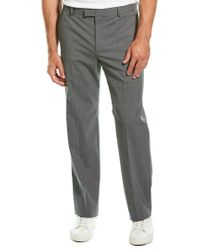 Theory Gray Kent Wool-blend Pant for men