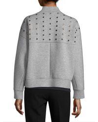 Armani Exchange - Gray Grommet Jacket - Lyst