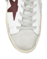 Golden Goose Deluxe Brand White Leather Star Patch Sneakers