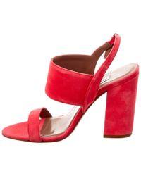 Tabitha Simmons Pink Senna Suede Heeled Sandal
